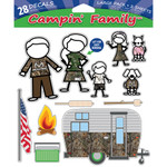 SEI Campin Family Decal Realtree Xtra 28 pk.