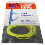 BCY Size 24 D Loop Rope Neon Yellow 1 m