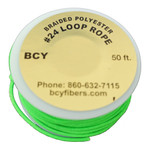 BCY Size 24 D Loop Rope Neon Green 50 ft