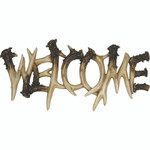 Rivers Edge Antler Welcome Plaque