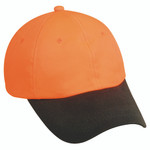 Outdoor Cap Waxed Cotton Hat Blaze Orange/Brown One Size