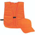Outdoor Cap Vest and Cap Combo Youth Blaze