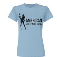 Women's AGG Fitted Tee (Blue)