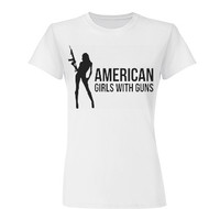 Women's AGG Fitted Tee (White)
