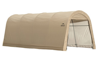 10x20x8 Round Style Auto Shelter Sandstone Cover