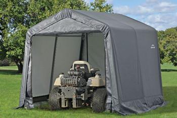 8x8x8 Peak Style Storage Shed Grey