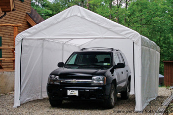 "12x20 White Canopy Enclosure Kit, Fits 2"" Frame"