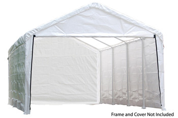 "12x30 White Canopy Enclosure Kit, Fits 2"" Frame"