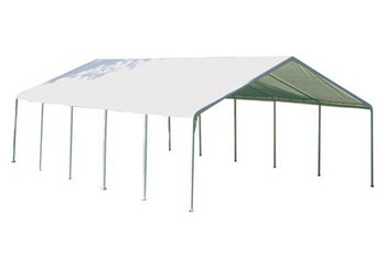 "18x30 Canopy 2"" 12-Leg Frame White FR Rated Cover"