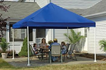 "12x12 Canopy 2"" 4-Leg Frame Blue Cover"