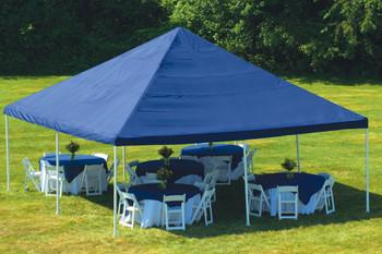 "20x20 Canopy 2"" 8-Leg Frame Blue Cover"