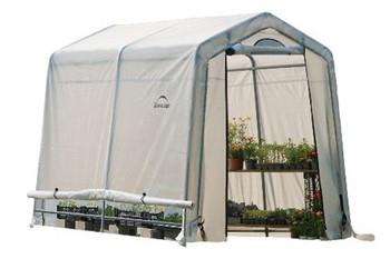 """6x8x6'6"""" (3) Rib Peak Style Grow It Greenhouse-in-a-Box"""