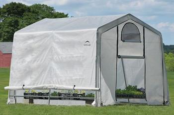 10x10x8 (3) Rib Peak Style Grow It Greenhouse-in-a-Box