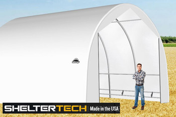 ShelterTech SP Series 20' Wide Round Available in Multiple Heights - Galvanized Frame