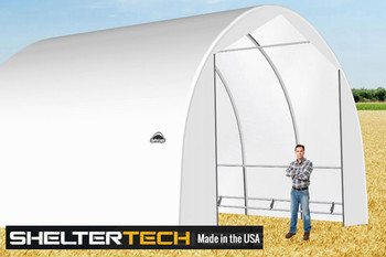 ShelterTech SP Series 22' Wide Round Available in Multiple Heights - Galvanized Frame