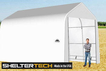 ShelterTech SP Series 14' Wide Peak Available in Multiple Heights - Galvanized Frame