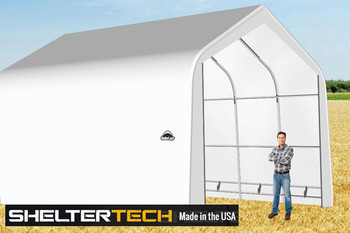 ShelterTech SP Series 18' Wide Peak Available in Multiple Heights - Galvanized Frame