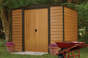 Woodridge 8' x6' Electro Galvanized Steel - Coffee / Woodgrain