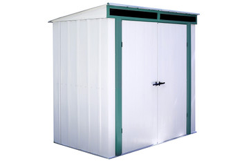 Euro-Lite™ 6' x 4' Hot Dipped Galvanized Steel - Meadow Green / Eggshell Pent Gable