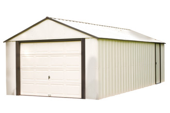 Murrayhill 12' X 17' Vinyl Coated Steel - Coffee / Almond High Gable