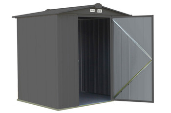 EZEE Shed® , 6x5, Low Gable, 65 in walls, vents, Charcoal