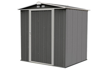 EZEE Shed® , 6x5, Low Gable, 65 in walls, vents, Charcoal & Cream