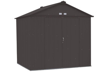 EZEE Shed® , 8x7, High Gable, 72 in walls, vents, Charcoal