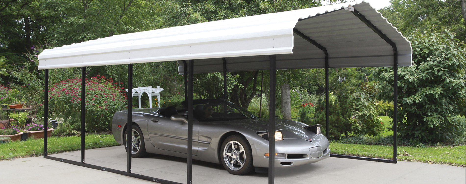 Decorative Metal Car Shelters : Shelters of new england portable garages carports and