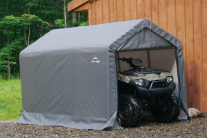 """6x10x6' 6"""" Peak Style Storage Shed Grey"""