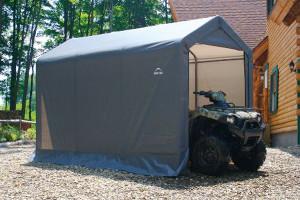 6x12x8 Peak Style Storage Shed Grey