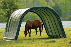12x20x8 Round Style Run-In Shelter Green