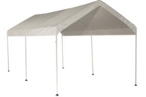 "10x20 Canopy 1-3/8"" 6-Leg Frame White Cover"