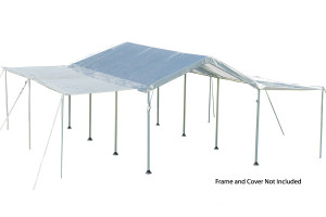 """10x20 White Canopy Extension Kit, Fits 1-3/8"""" and 2"""" Frame"""