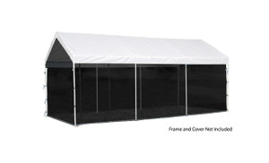 """10x20 White Canopy Screen Kit, Fits 1-3/8"""" and 2"""" Frame"""