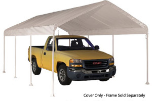 """10x20 White Canopy Replacement Cover, Fits 2"""" Frame"""