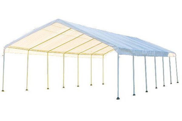 18x40 canopy 2 14 leg frame white fr rated cover