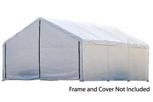 18x20 White Canopy Enclosure Kit
