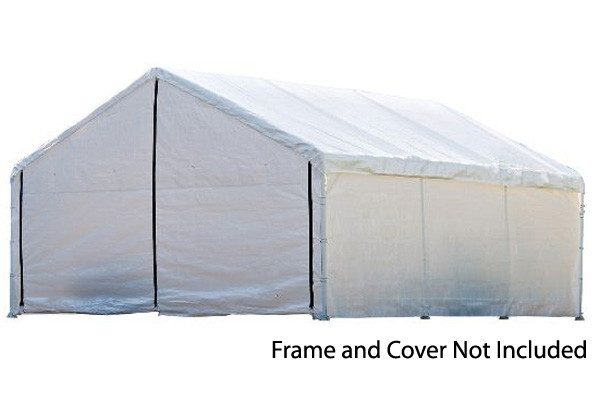 Decorative Metal Car Shelters : White canopy enclosure kit shelters of new england