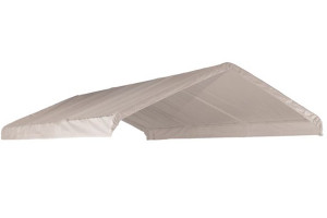 """18x40 White Canopy Replacement FR Rated Cover, Fits 2"""" Frame"""