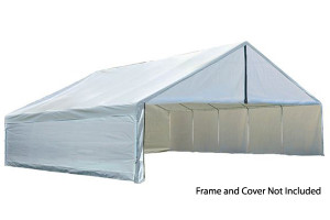 30x30 White Canopy Enclosure Kit, FR Rated