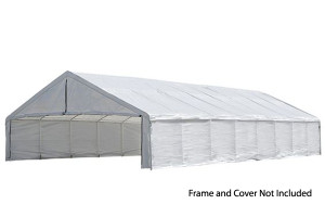 30x50 White Canopy Enclosure Kit, FR Rated