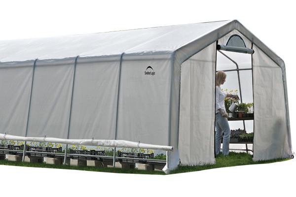 In A Box 12x20x8 Garage : Rib peak style grow it greenhouse in a box