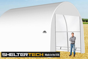 ShelterTech SP Series 16' Wide Round Available in Multiple Heights - Galvanized Frame