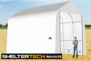ShelterTech SP Series 16' Wide Peak Available in Multiple Heights - Galvanized Frame
