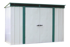Euro-Lite™ 10' x 4' Hot Dipped Galvanized Steel - Meadow Green / Eggshell Pent Gable
