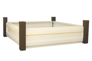 Raised Bed Garden 4' x 4' Hot Dipped Galvanized Steel G90 - Espresso / Latte