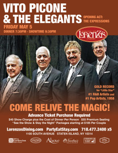 Vito Picone & The Elegants - Friday May 5th 2017