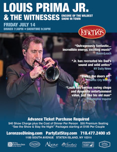 Louis Prima Jr. and The Witnesses - Friday July 14th 2017