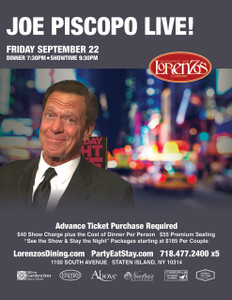 Joe Piscopo Friday September 22, 2017