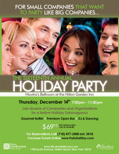 The Sixteenth Annual Holiday Party - Thursday, December 14th 2017